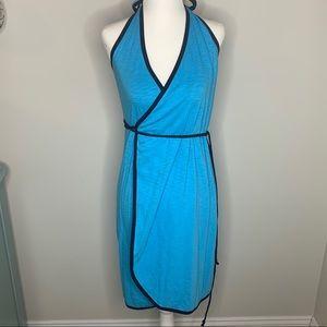 Athleta 2-in-1 Reversible Black/Blue Dress Small